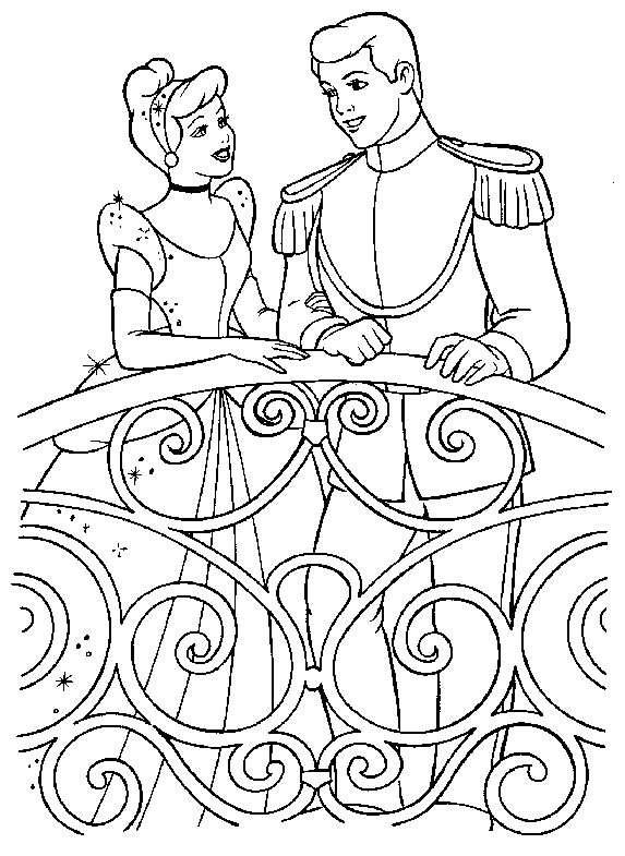 Coloriage cendrillon - Cendrillon dessin anime walt disney ...